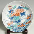 尺高台皿—芙蓉小菊