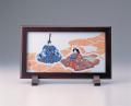 陶額−鍋島有職座り雛飾り