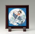 陶額-鍋島「瑞雲鯉のぼり図」