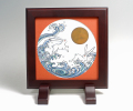 陶額−色鍋島「月に波うさぎ」