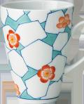 立ちマグカップ - 赤梅氷文