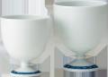 ワインカップ−鎖地文(大・小)(ロクロ成形)