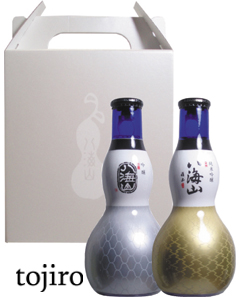八海山 ひょうたん瓶(純吟・吟醸) 180ml・2本セット 化粧箱入
