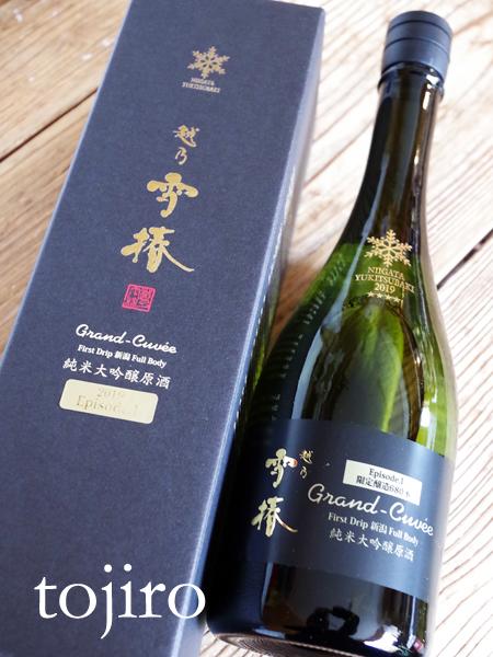 越乃雪椿 Grand-Cuvee 純米大吟醸原酒 720ml 化粧箱入