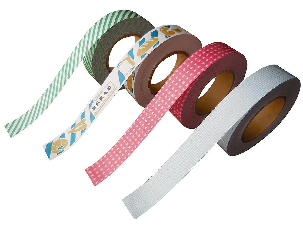 紙自着テープ15mm幅4柄セット