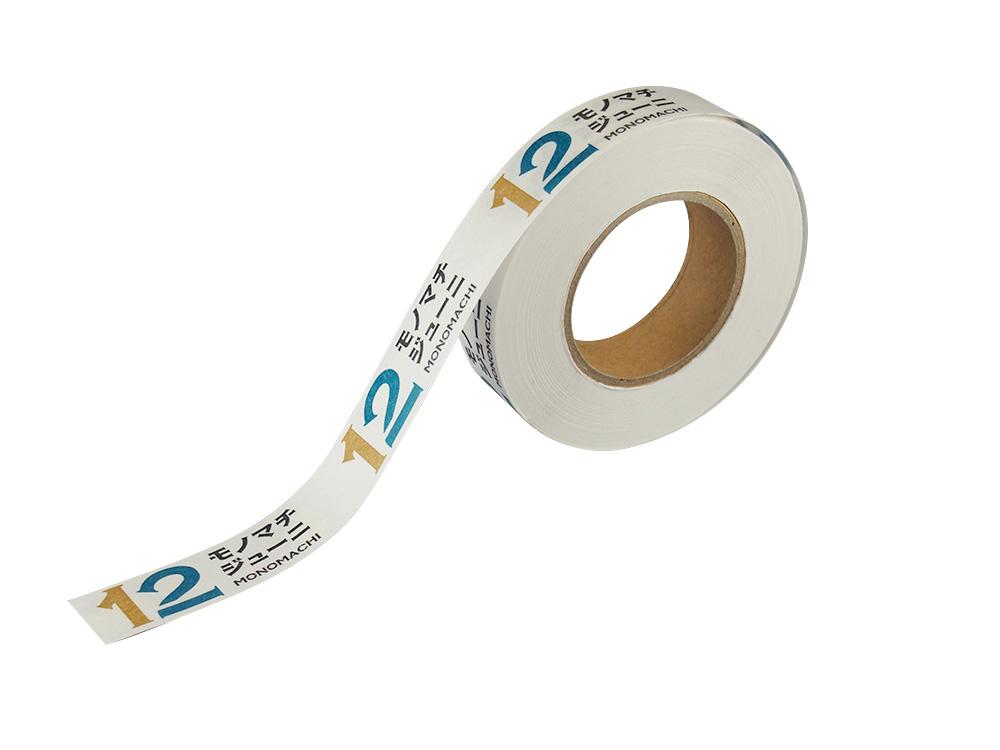 紙自着テープ15mm幅モノマチロゴ柄