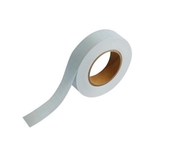 紙自着テープ 15mm幅 青グリッド柄
