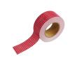 紙自着テープ25mm幅赤チェック柄
