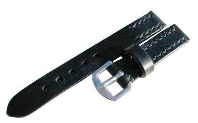 【馬具職人手縫!4mm厚のブライドルレザーにドイツ有名馬具メーカーの金具を装備!】最高峰SOMESブライドルレザーバンド20mm幅ブラック