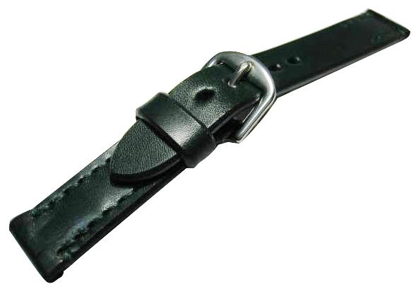【馬具職人手縫!4mm厚のブライドルレザーにドイツ有名馬具メーカーの金具を装備!】最高峰SOMESブライドルレザーバンド 20mm幅グリーン