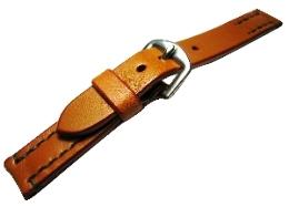 【馬具職人手縫!4mm厚のブライドルレザーにドイツ有名馬具メーカーの金具を装備!】最高峰SOMESブライドルレザーバンド 20mm幅キャメル