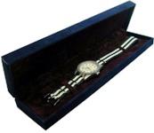 高級長形ウォッチコレクションボックス (紺)