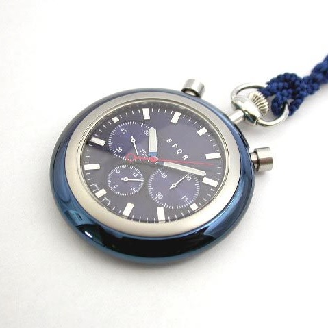 SPQR POCKET CHRONO BLU (紺ストラップ)