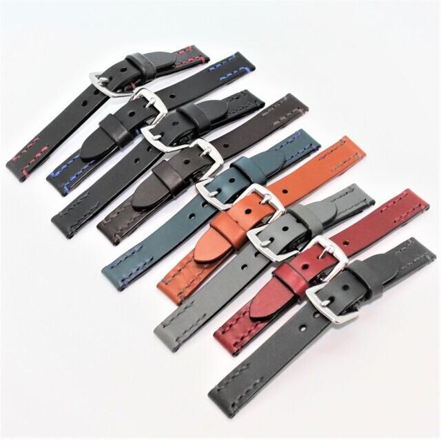 SPQRオリジナルバンド SOMESレザーバンド18mm(マスターピース・手巻付自動巻モデル替えバンド)*時計をお送りいただければ、取付してお送りすることも可能です