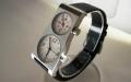 【世界的デザイナー五十嵐威暢氏が長年探求し続けたデュアルタイムの決定版!!】「DUAL TIME 12+24」(ブラックバンド)