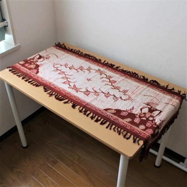 手描きバティックのテーブルランナー(ワヤン・クリ)