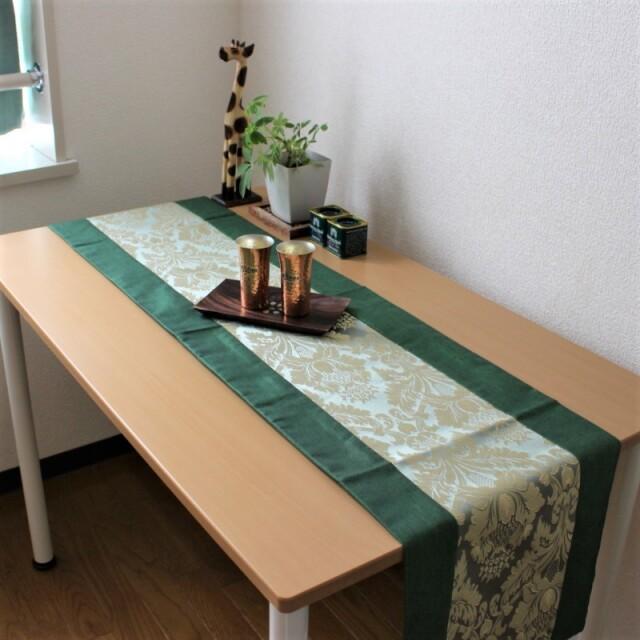フラワーアラベスクのテーブルランナー