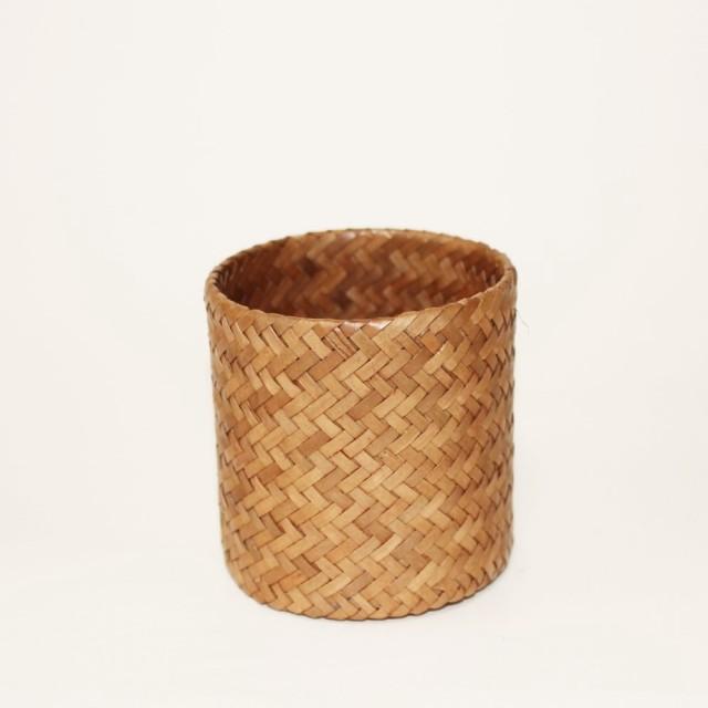 ラタン製カトラリースタンド(円筒・小)