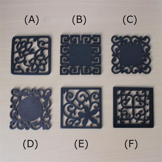 木彫りコースター6種類