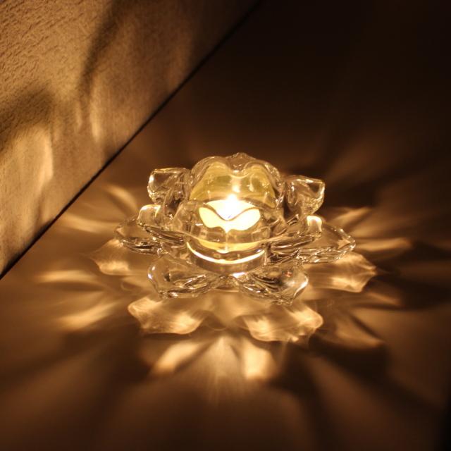 ガラス製キャンドルホルダー使用例