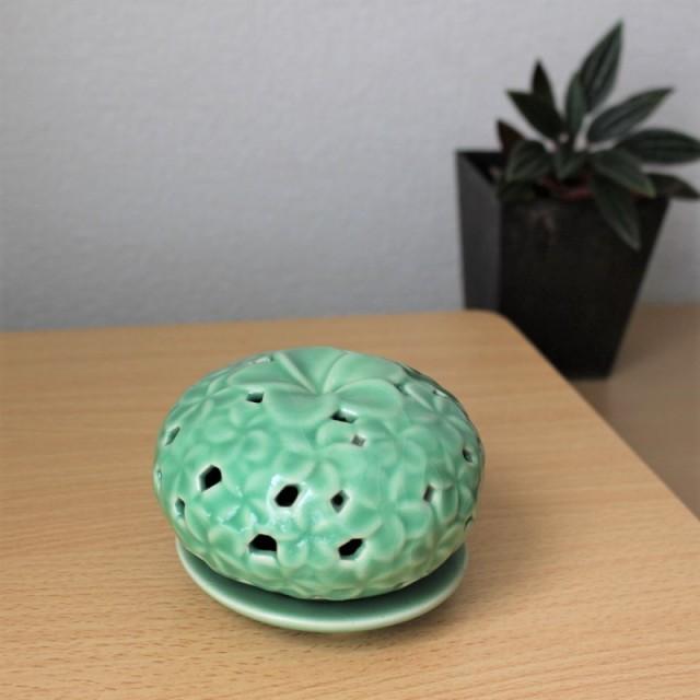 陶器のインセンススタンド(プルメリア)