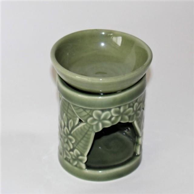 陶器のアロマポット(プルメリア)