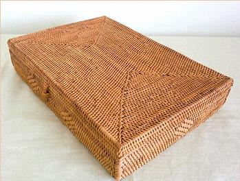 アタかご製 浅型ボックス/A4サイズ【幅32cm】★書類ケース・収納ケースに