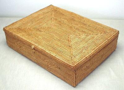 アタかご製 浅型ボックス/B4サイズ【幅38cm】★書類ケース・収納ケースに