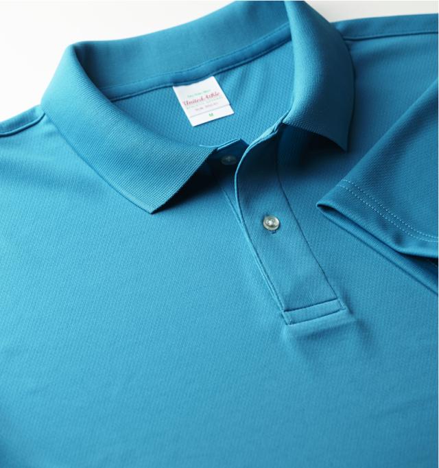 【ベーシックなデザインにドライ機能をプラス】UnitedAthle5910 4.1オンス ドライ半袖ポロシャツ(ポケット無し)