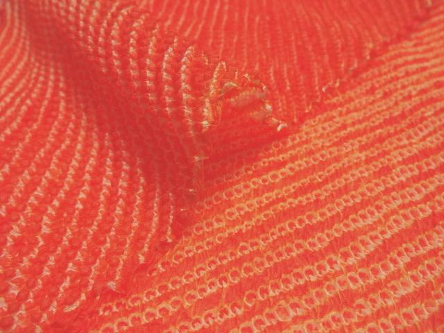 正絹 鹿の子絞り(橙) 30cm単位 切り売り