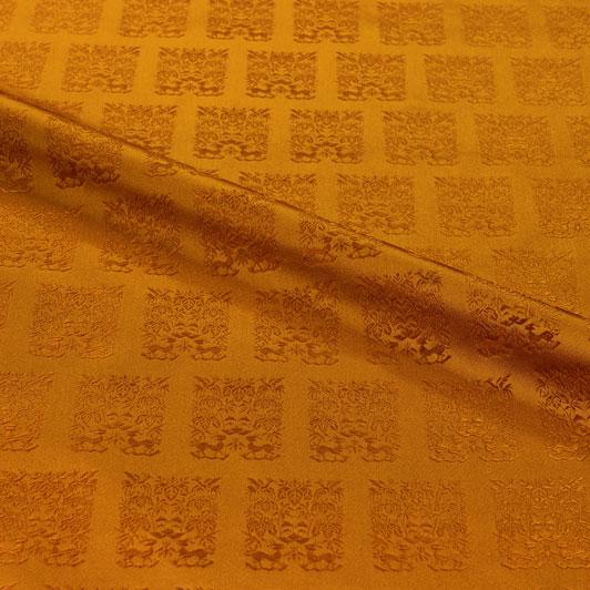 京都西陣織・金襴生地 黄櫨染 10cm単位 切り売り