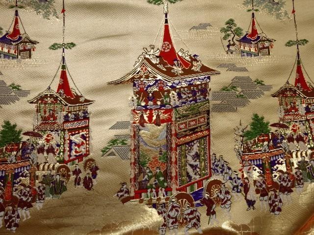 京都西陣織・金襴生地 山鉾 生地巾70cm×長さ32cm単位 切り売り