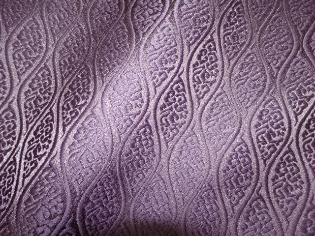 京西陣・金襴 生地 雲立涌文 (紫) 10cm単位 切り売り / 和柄 和風 衣装 生地