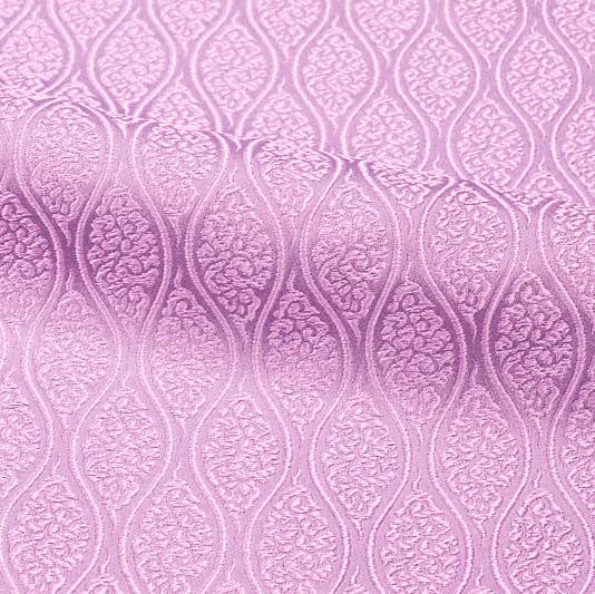 京都西陣織・金襴 生地 雲立涌文(紅藤色) 10cm単位 切り売り