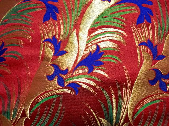 京西陣・金襴生地 花錦 10cm単位 切り売り / 和柄 和風 衣装 生地