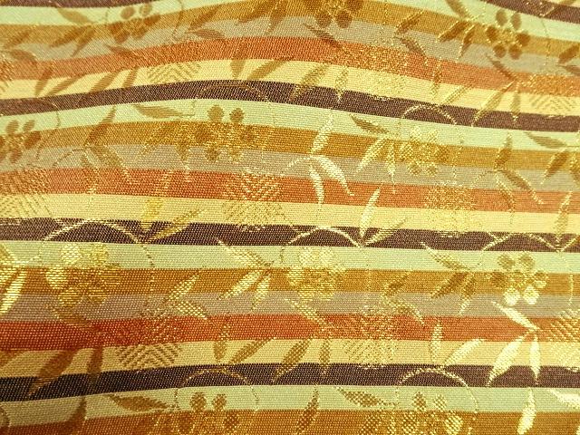 京西陣・金襴生地 笹蔓文(桑染系) 10cm単位 切り売り / 和柄 和風 衣装 生地