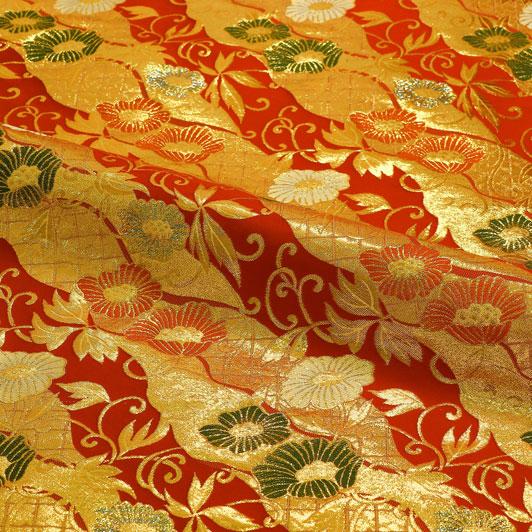 京西陣・金襴生地 道長蔓華 10cm単位 切り売り 和柄 和風生地 はぎれ 布地 きんらん よさこい