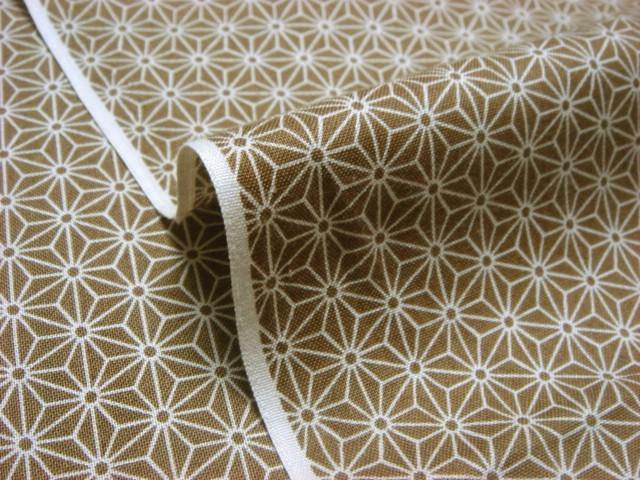 お買い得カットクロス (50cm) 綿 小紋 麻型 (黄土)