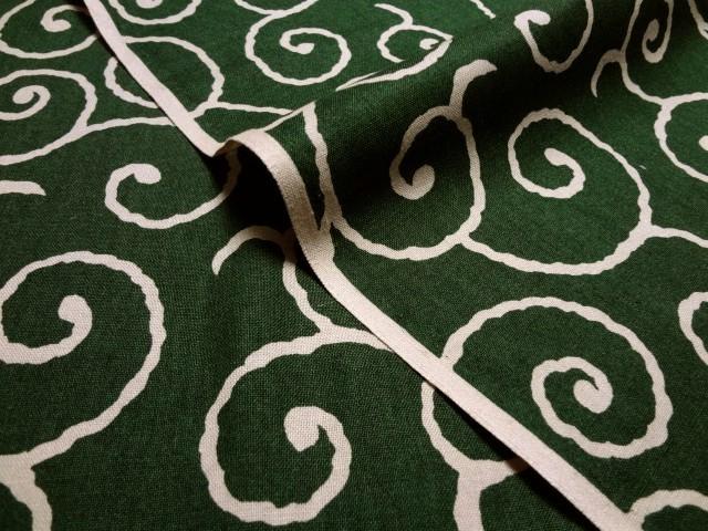 お買い得カットクロス (50cm) 綿 和柄 唐草文様 (緑)