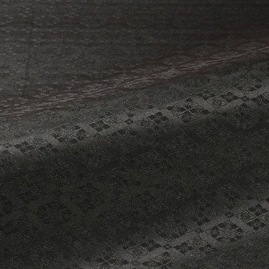 京 綸子・りんず 花菱文(黒) 50cm単位 切り売り