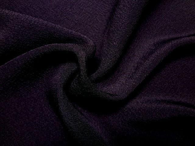 京・正絹ちりめん 無地(紫) 10cm単位 切り売り
