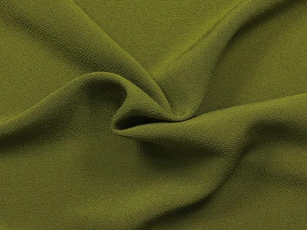 京・正絹ちりめん 無地(緑) 10cm単位 切り売り