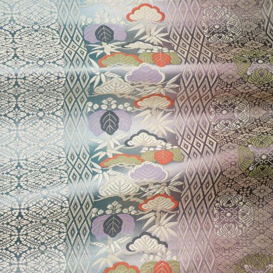 京都西陣織・正絹金襴 生地 正絹献上ぼかし 10cm単位 切り売り