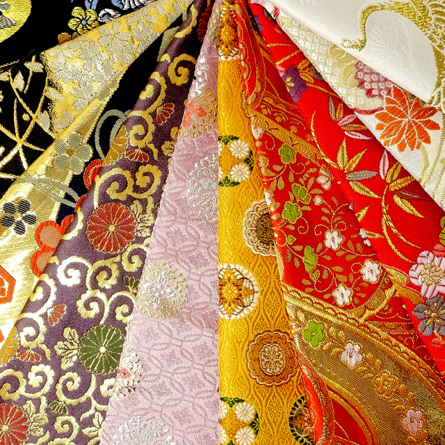 大特価!金襴織物 はぎれ 色々 お試し 10枚セット