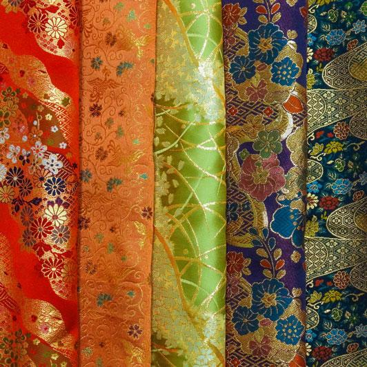 金襴織物 はぎれ 色々 お試し 5枚セット(四)