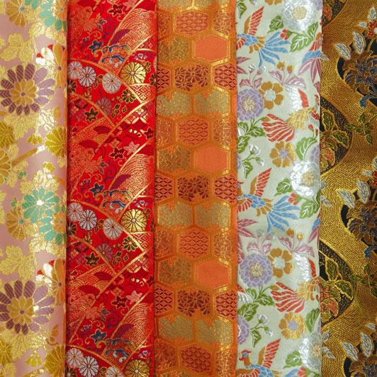 金襴織物 はぎれ 色々 お試し 5枚セット(六)