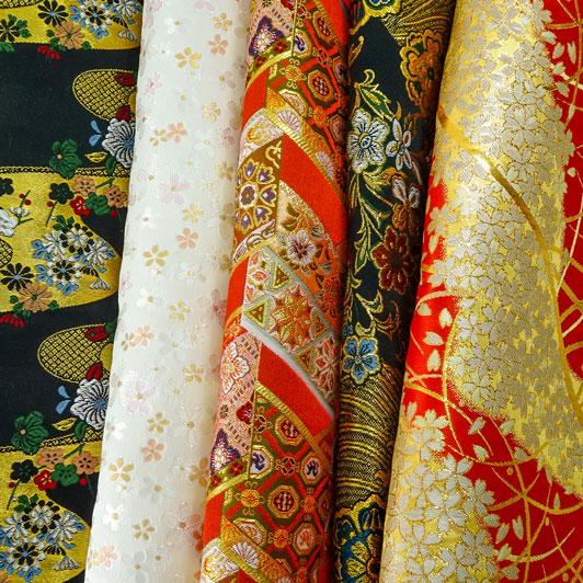 金襴織物 はぎれ 色々 お試し 5枚セット(一)