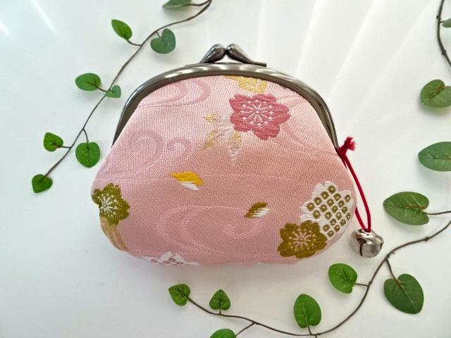 金襴 がま口・大 源氏香に桜