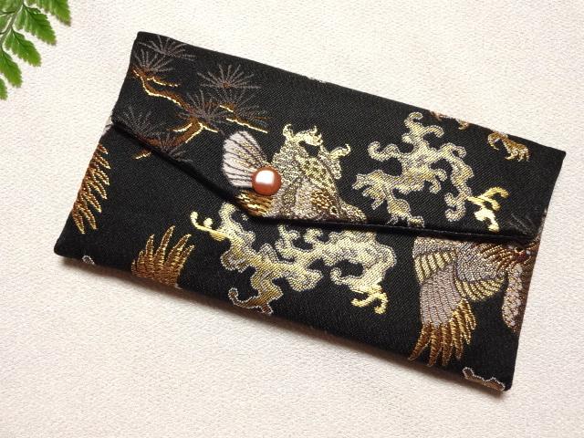 数珠袋 鷹 (黒)