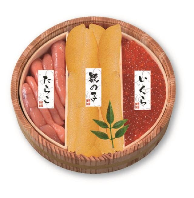 カネサン佐藤水産 北の魚卵木樽詰3点セット 【21-102907】